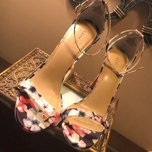 Flirty Floral high heel sandals